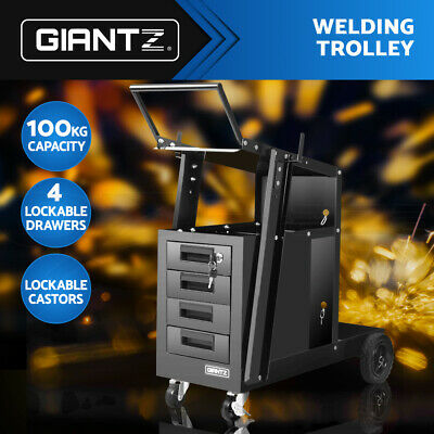 Giantz Welding Trolley Welder Cart MIG TIG ARC MMA Plasma Cutter Bench Drawer