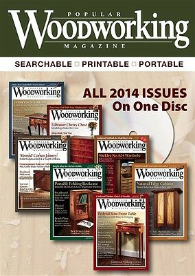Popular Woodworking Magazine 2014 Annual - 7 Issues - CD - PC & MAC Compatible