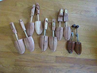 5 Pairs Wooden Shoe Trees Cedar