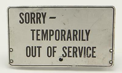 Aluminum Bell Phone System Pay Phone Sorry Out Of Service Sign