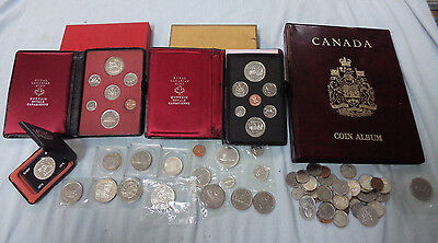 #ZZ7. LOT OF  CANADA COINS etc - SOME SILVER