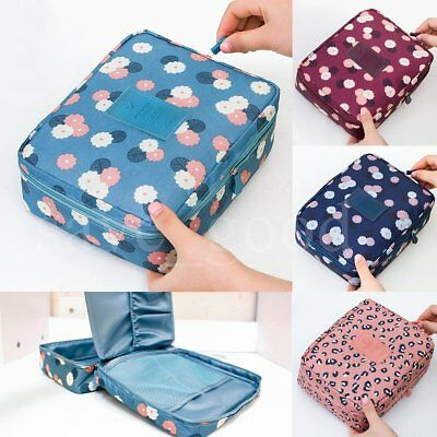 Cosmetic Makeup bag Travel Organizer Expandable case Wash Toiletry Storage Pouch