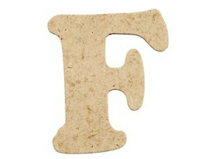 SALE - 10 Small 40mm Wooden MDF Letters - F | Wood Shapes for Crafts