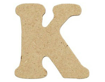 SALE - 10 Small 40mm Wooden MDF Letters - K | Wood Shapes for Crafts