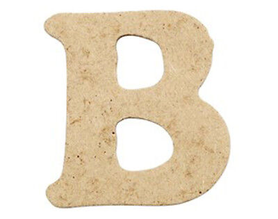 SALE - 10 Small 40mm Wooden MDF Letters - B | Wood Shapes for Crafts