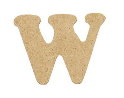 SALE - 10 Small 40mm Wooden MDF Letters - W | Wood Shapes for Crafts