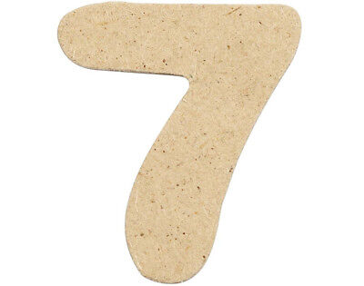 SALE - 10 Small 40mm Wooden MDF Numbers - 7 | Wood Shapes for Crafts