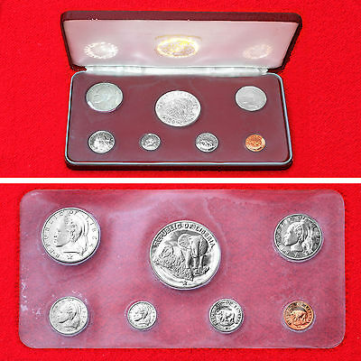 1974 Liberia 7 Coin Official Proof Set Us Mint Issue .900 Silver Five Dollar+Box