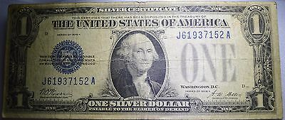 1928 A One Dollar $1 Silver Certificate Funny Back Free Ship