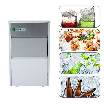 EU/US Plug Stainless Steel Commercial 55lb Ice Maker Restaurant Ice Cube Machine