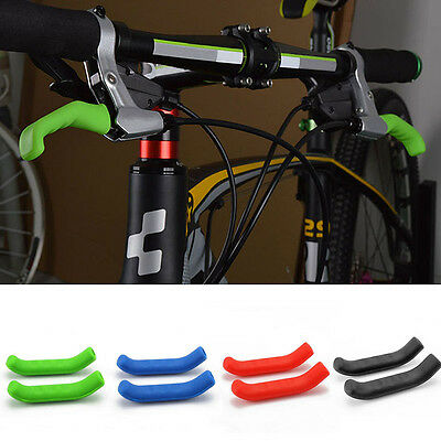 1 Pair Bike MTB Road Brake Lever Protector Protective Silicone Handle Sleeves
