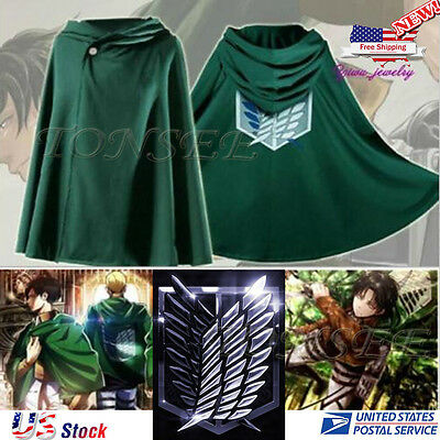 Cloak Cape Attack on Titan Shingeki no Kyojin Scouting Legion Cosplay Accessory