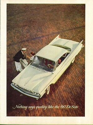 Nothing says quality like the '60 DeSoto ad 1960 De Soto