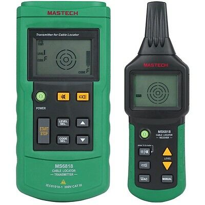 MASTECH MS6818 Advanced Cable Tracker Pipe Locator Detector Network Wire Tester