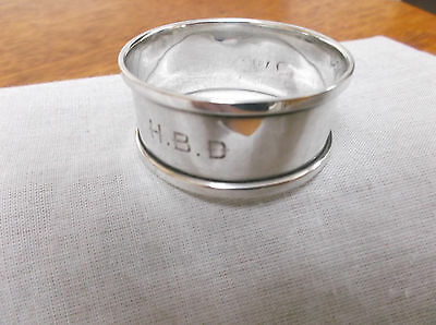 A  Vintage  Sterling Silver   Napkin Ring   Chester   1912