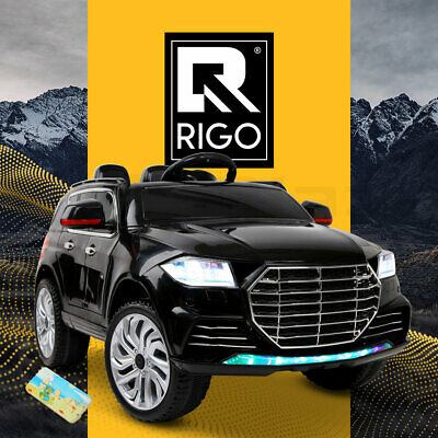 Kids Ride-On Car Audi Q7 Style Battery Electric Toys 2 Speed 12V Remote Black