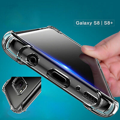 360° Shockproof Soft Silicone Transparent TPU Case Cover For Samsung Galaxy S8S9