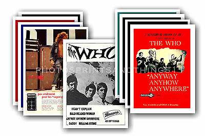 The Who  - 10 promotional posters - collectable postcard set # 4