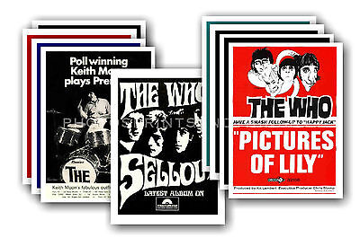 The Who  - 10 promotional posters - collectable postcard set # 5