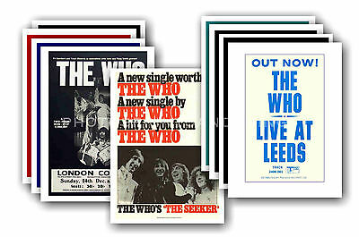 The Who  - 10 promotional posters - collectable postcard set # 6