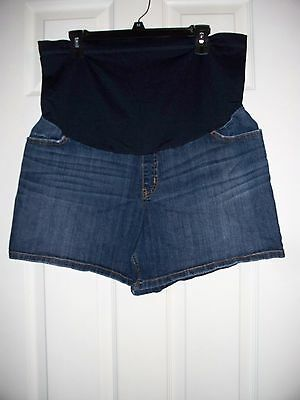 Maternity Shorts Denim Jean Women's Liz Lange Size XL
