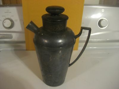 Antique EGW&S Silverplate Cocktail Shaker 1915 Pitcher Webster & Son PRICE DROP