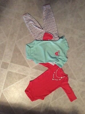 Infant Girls 3 Piece Outfit New, Carter's Brand Size 6 Months