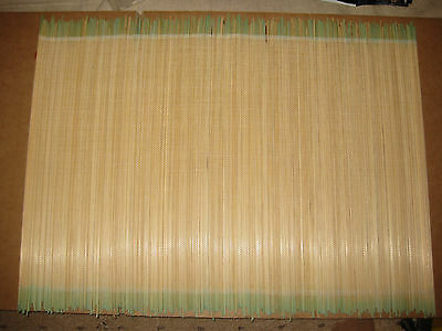 Green Bamboo Natural Place Mat Large Serving Roll Up Mats Oriental Sushi New.