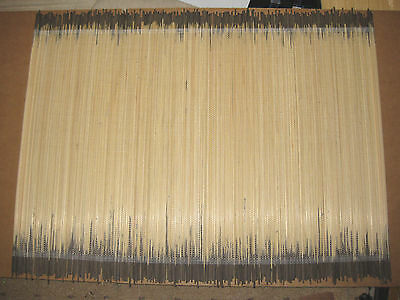 Grey Bamboo Place Mat Table Large Serving Dining Roll Up Sushi Oriental Mats New