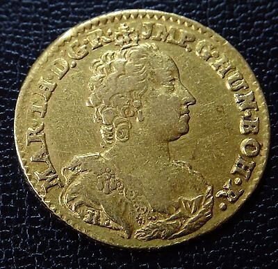 Goldmünze, Österreich, Maria Theresia,  Souverain d'or, 1755