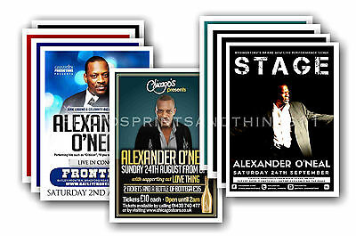 ALEXANDER O'NEAL  - 10 promotional posters - collectable postcard set # 1