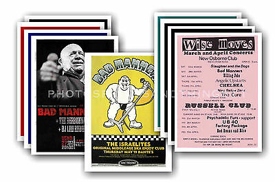BAD MANNERS  - 10 promotional posters - collectable postcard set # 1
