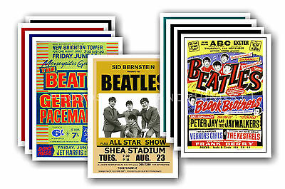 BEATLES  - 10 promotional posters - collectable postcard set # 1