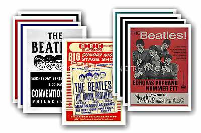 BEATLES  - 10 promotional posters - collectable postcard set # 2