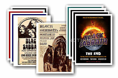 BLACK SABBATH  - 10 promotional posters - collectable postcard set # 2