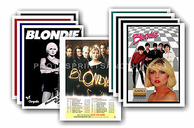 BLONDIE  - 10 promotional posters - collectable postcard set # 1