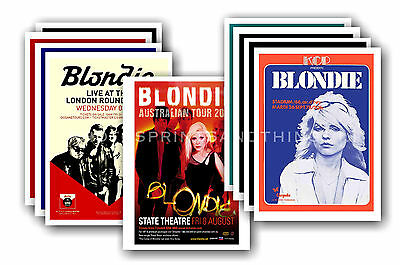 BLONDIE  - 10 promotional posters - collectable postcard set # 2