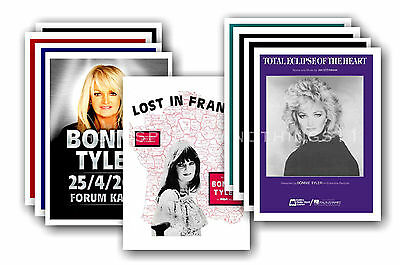 BONNIE TYLER  - 10 promotional posters - collectable postcard set # 1