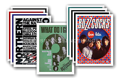 BUZZCOCKS  - 10 promotional posters - collectable postcard set # 1