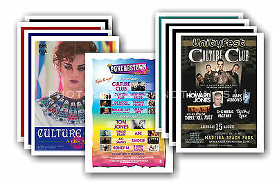 CULTURE CLUB  - 10 promotional posters - collectable postcard set # 2