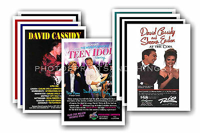 DAVID CASSIDY  - 10 promotional posters - collectable postcard set # 1