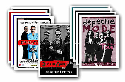 DEPECHE MODE  - 10 promotional posters - collectable postcard set # 1