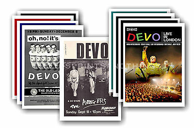 DEVO  - 10 promotional posters - collectable postcard set # 1