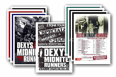 DEXYS MIDNIGHT RUNNERS  - 10 promotional posters - collectable postcard set # 1