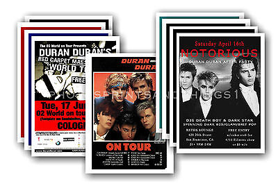 DURAN DURAN  - 10 promotional posters - collectable postcard set # 1
