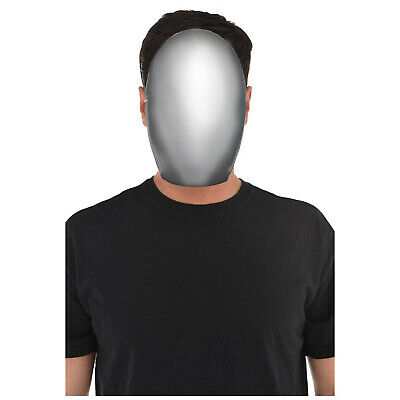 Halloween Faceless Silver Mask Party Prop