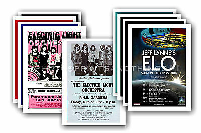 ELECTRIC LIGHT ORCHESTRA - 10 promotional posters - collectable postcard set # 1