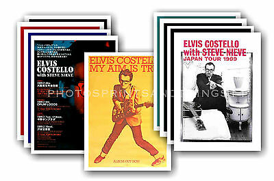 ELVIS COSTELLO - 10 promotional posters - collectable postcard set # 1