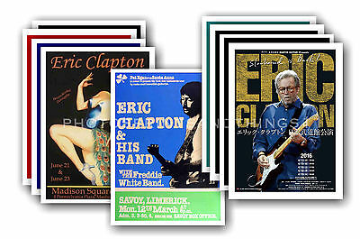 ERIC CLAPTON - 10 promotional posters - collectable postcard set # 2