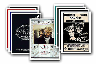 EURYTHMICS - 10 promotional posters - collectable postcard set # 1